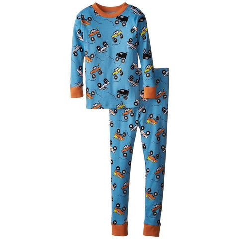 Boys Monster Trucks Organic PJs by New Jammies - The Boy's Store