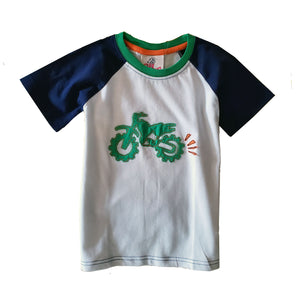 Toddler Boys Motorcycle Applique Shirt by CR Sport
