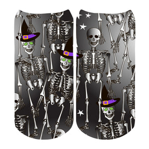 Boys Skeletons No Show Socks by Sublime Designs