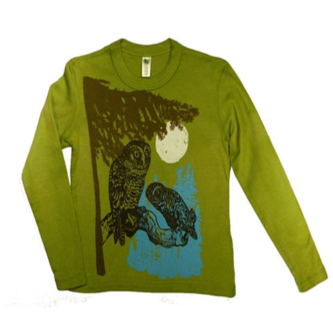 Boys Owl Shirt by Wugbug Clothing
