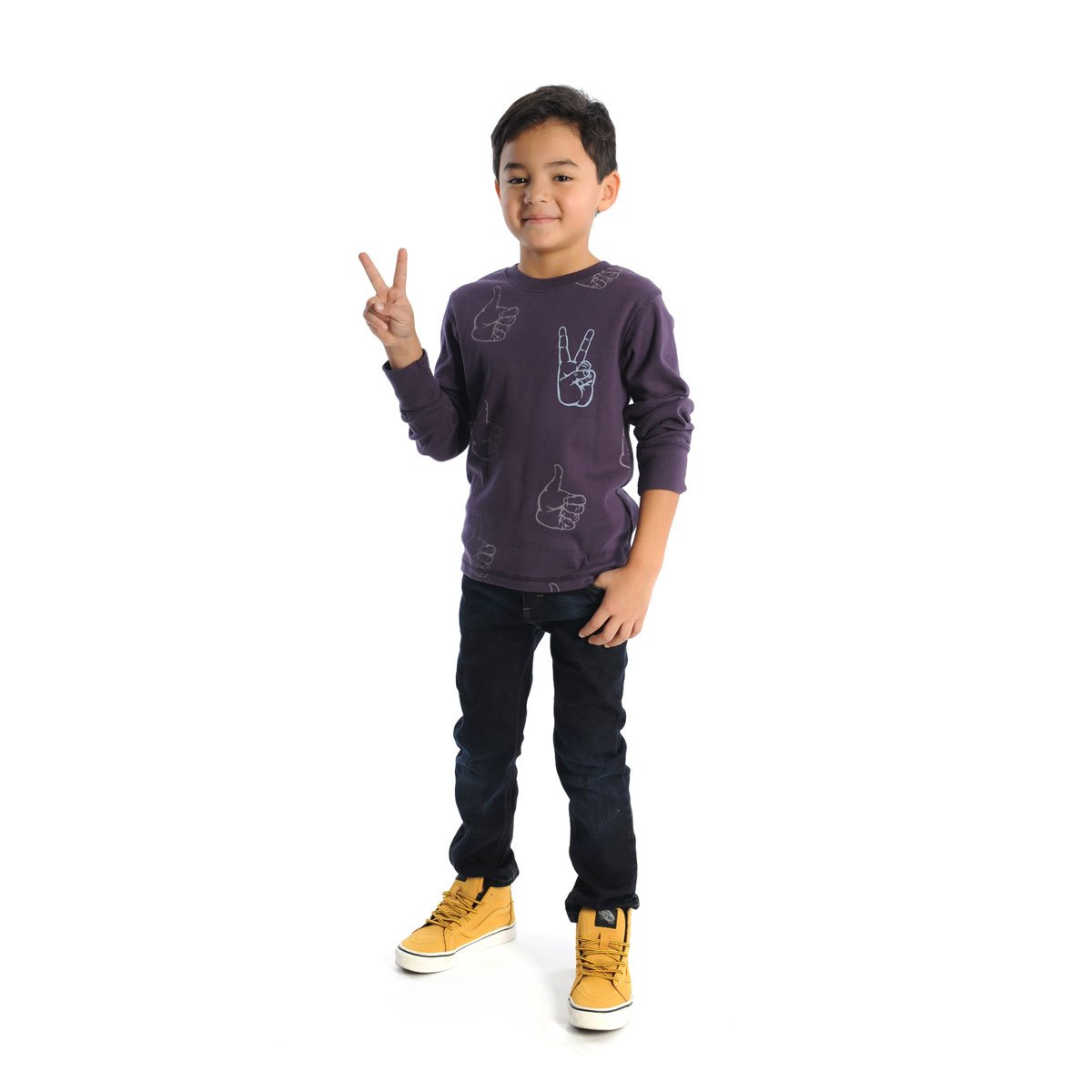 Boys' Peace Long Sleeve Tee by Appaman