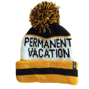 Boys' Permanent Vacation Pom Pom Beanie by Tiny Whales