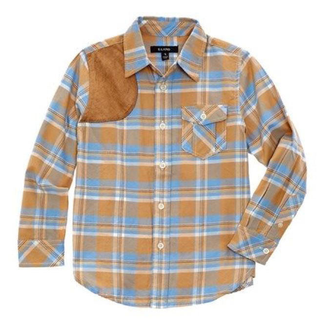 Boy's Plaid Shirt by E-Land