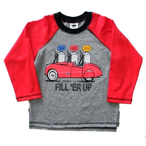 Boys Fill' Er Up Raglan Sleeve Shirt by Mulberribush