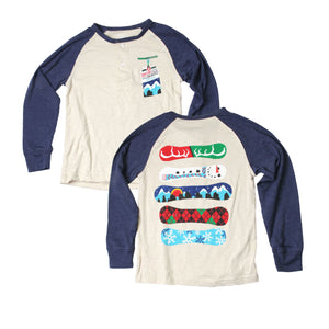 Boys' Snowboard Raglan Henley by Wes and Willy