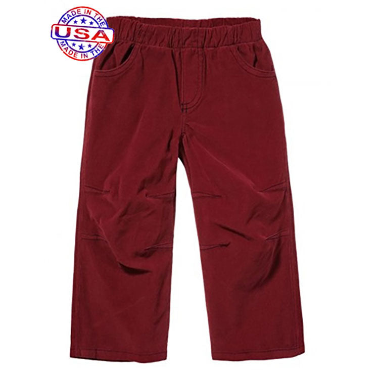 Boys Red Corduroy Pants