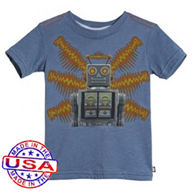 Boys' Robot Zap Shirt by City Threads