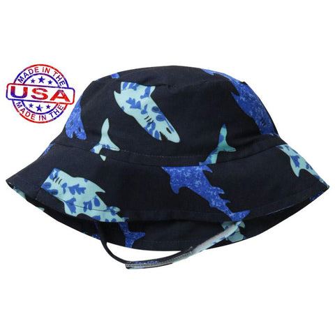 Boys Shark Party Crusher Hat by Flap Happy