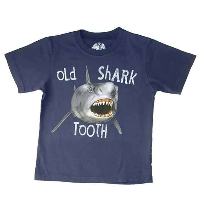 Boys Old Shark Tooth Shirt by Wes and Willy