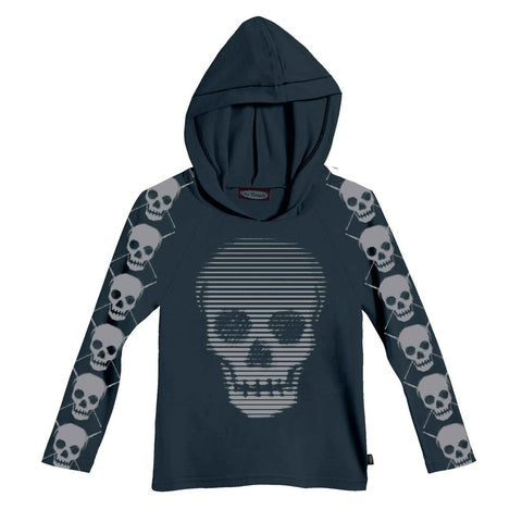 Boys' Skulls Hoodie by City Threads