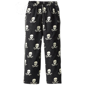 Boys' Skull Heathered Pant by Wes and Willy
