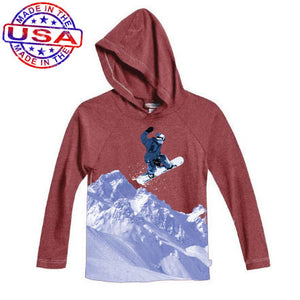 Boys Hooded Snowboard Shirt by City Threads