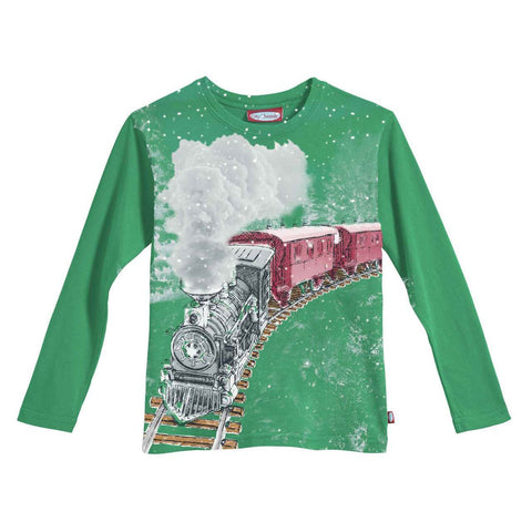 Boys' Snowy Train Tee by City Threads