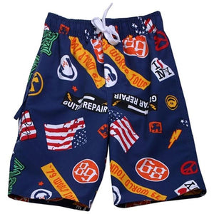 Boys Rock Sticker Swim Trunks by Wes and Willy - The Boy's Store
