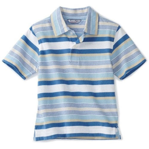 Boys Striped Polo Shirt by Kitestrings