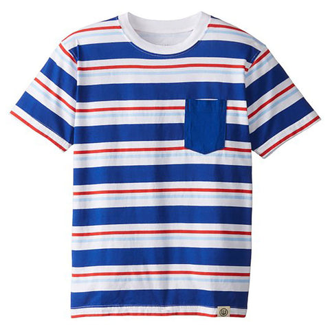 Boys' Striped Pocket Tee by Wes and Willy