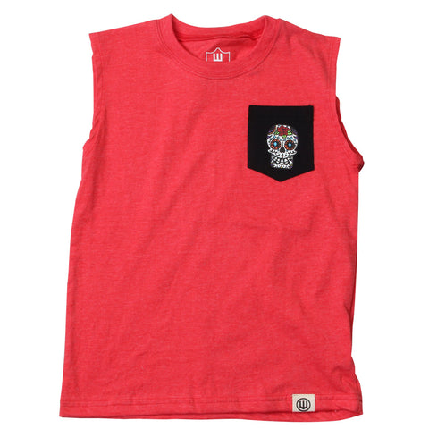 Boys Sugar Skulls Tank Top by Wes and Willy