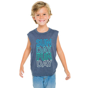 Boys Sunday Funday Muscle Tee by Chaser