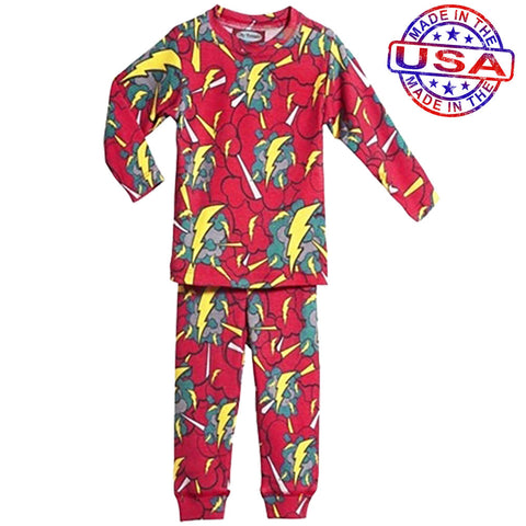 Boys' Superhero Lightning Pajama Set by City Threads
