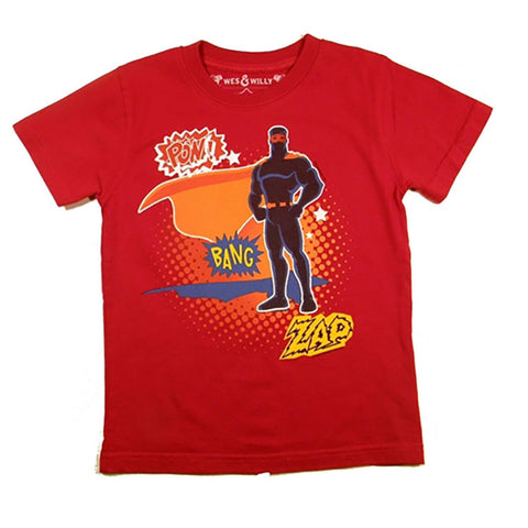 Little Boys Superhero Shirt by Wes and Willy