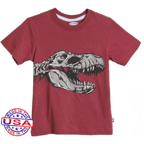 Boy's T-Rex Skull T-Shirt by City Threads