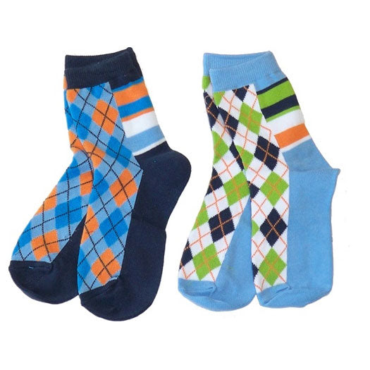 Boys' Argyle Crew Socks by Nowali