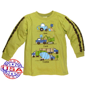 Boys' One Two Three Trucks Shirt by Mulberribush
