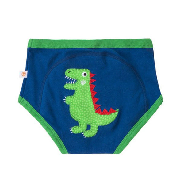 Boys Organic Jurassic Pals Training Briefs by Zoocchini
