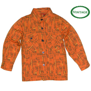 Boys Vintage Tangerine Woven Shirt by Sonik