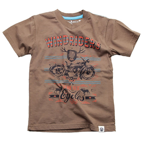 Boys Windrider V-neck Shirt by Wes and Willy