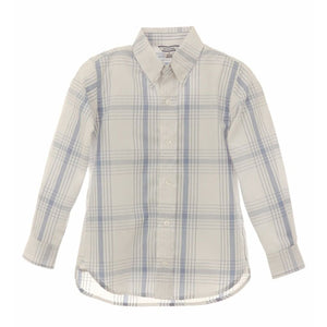 Boys' Woven Plaid Dress Shirt by Kitestrings