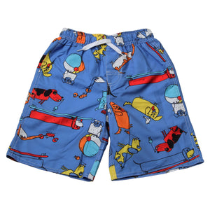 Boys Beach Dogs Swim Trunks by Wes and Willy