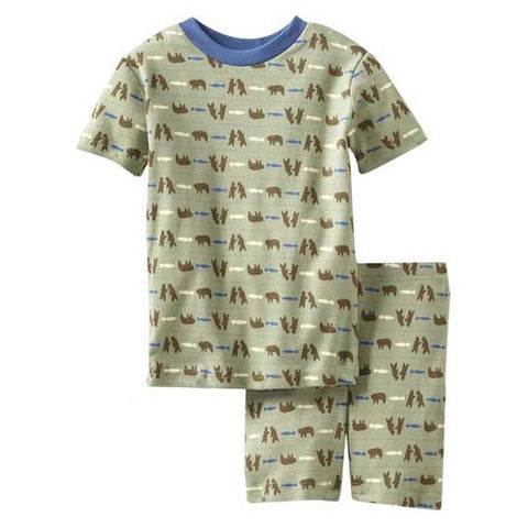 Boys Fishin' Bears Short Pajama Set by New Jammies