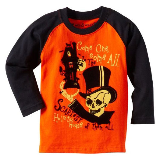 Boys Haunted Raglan Shirt by Wes and Willy
