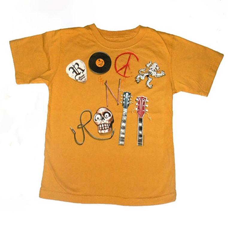 Boys Rock and Roll Collage Shirt by Wes and Willy - The Boy's Store