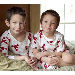 Boy's Organic Lobster Short Pajama Set by New Jammies