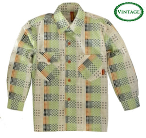 Boys Vintage Pixel Dots Dress Shirt by Sonik