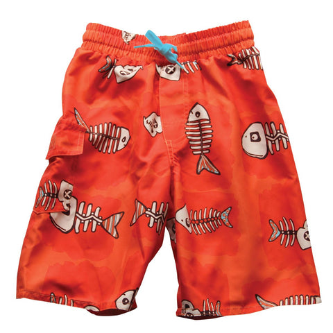 Boys' Fish Bones Swim Trunks by Wes and Willy