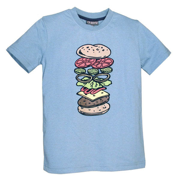 Little Boys' Deconstructed Burger Shirt by CR Sports
