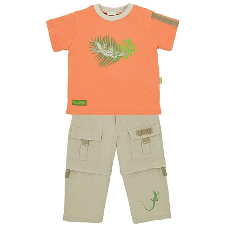 Boys' Chameleon Shirt and Pant Set by le top - The Boy's Store