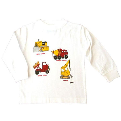Little Boys' Construction Vehicle Shirt by Teaching Togs - The Boy's Store