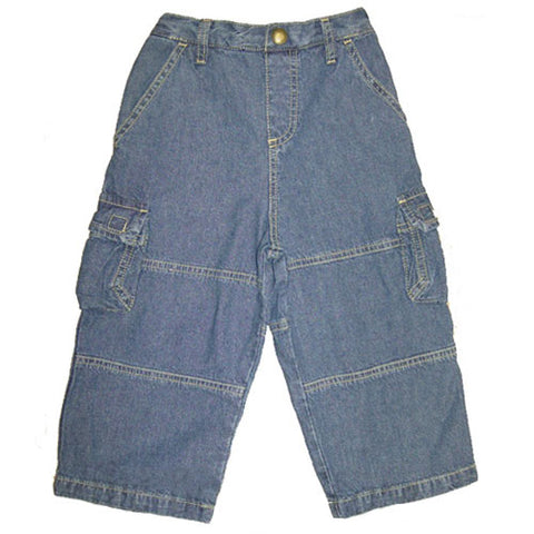 Little Boys Denim Cargo Pants by Mulberribush