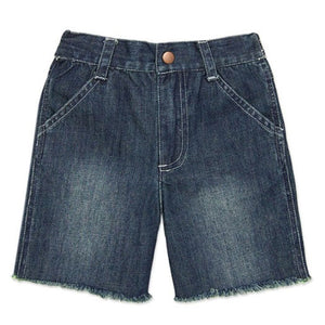 Boys' Denim Cut-Off Shorts by le top