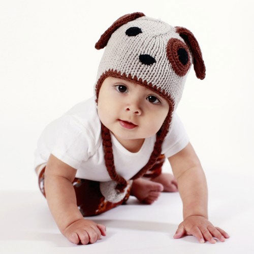 Little Boys Dog Beanie Hat by Huggalugs