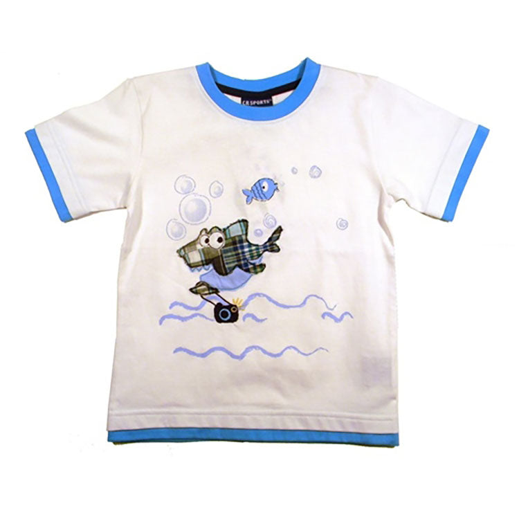 Little Boys Shark and Fish Shirt by CR Sport