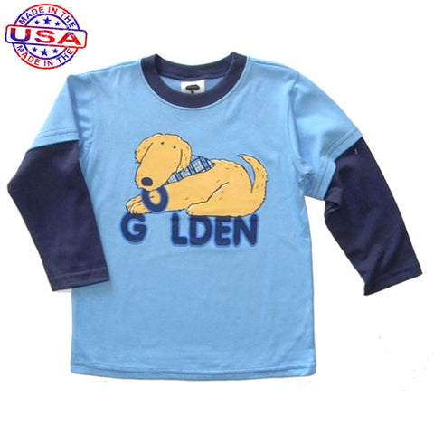 Boys Golden Retriever Shirt by Mulberribush