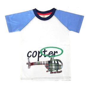 Little Boys Helicopter Shirt by CR Sport