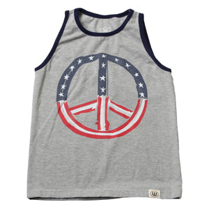 Boys Peace Tank Top by Wes and Willy