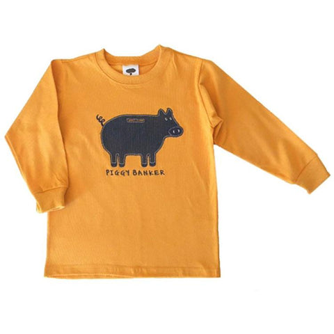 Little Boys' Piggy Banker Shirt by Mulberribush - The Boy's Store