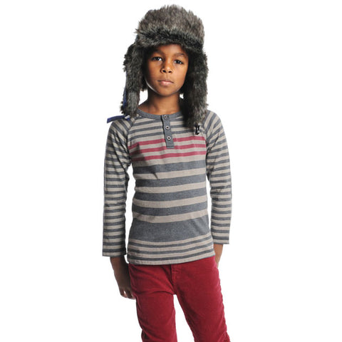 Little Boys' Reverse Striped Henley by Appaman